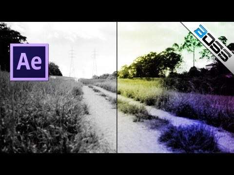 Dust and scratches effect, flicker and movement of film - old school projector - Adobe After Effects
