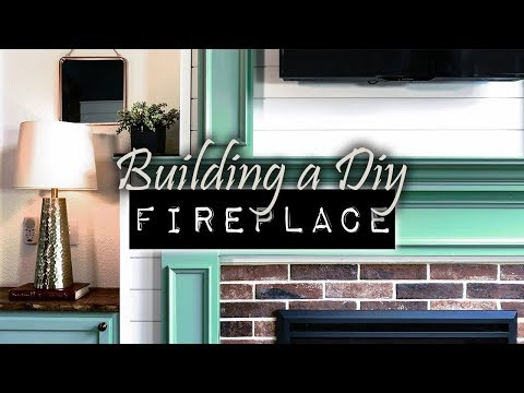 How To Build A DIY Fireplace