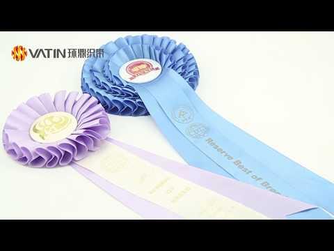 Award Ribbon Rosette From VATIN Ribbon Co ,Ltd