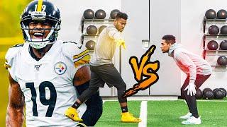 1ON1'S VS TOP NFL PLAYER! (JUJU VS DOCKERY) *EXPOSED*
