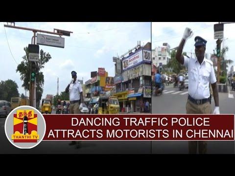 Dancing Traffic Police Mr. Kumar Attracts Motorists at Sholinganallur(Chennai) | Thanthi TV