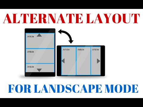 Creating an Alternate Landscape Layout [ANDROID DEVELOPMENT]