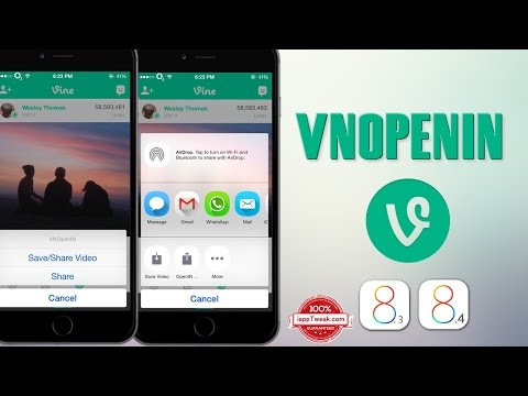 VNOpenIN tweak lets you Share and Save Vine videos to your Camera Roll