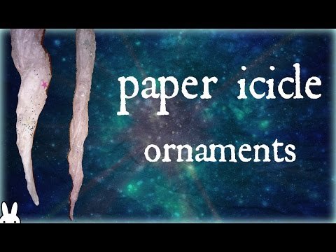 diy: how to make paper icicle ornaments with tissue paper| winter/christmas craft decor