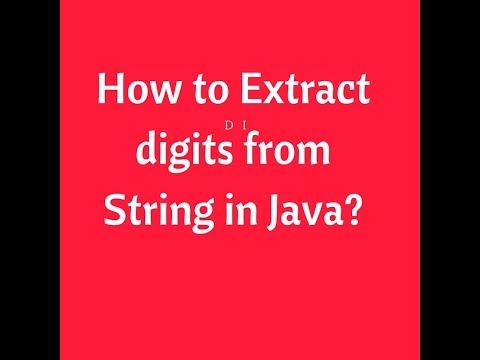 How to Extract digits from String in Java | Programming for Selenium | Webdriver Interview Questions