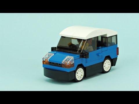 LEGO Small Blue Car MOC Building Instructions