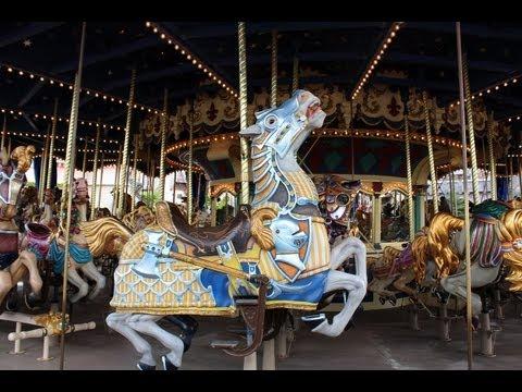 Disneyland Park (France Paris) -- Mechanical Horse Ride | Диснейленд (Парк Париж) -- Аттракционы