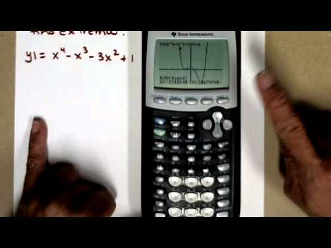 Using a graphing calculator to find extrema