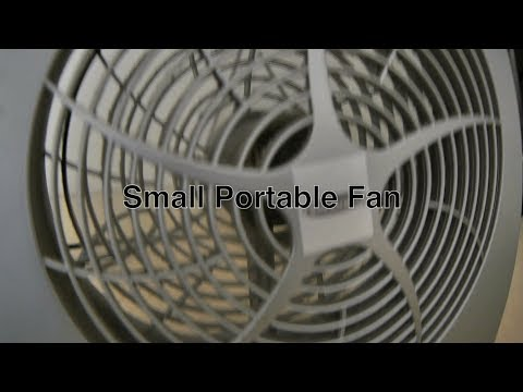 Small Portable Fan as Cheap Electric Desk / Room Cooling or Simple Window Ventilation System Fans