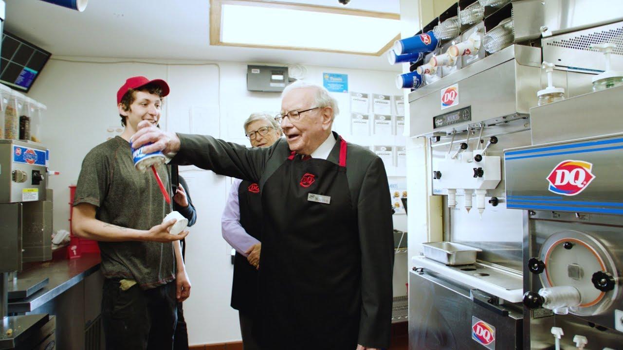 Bill Gates and Warren Buffett pick up a shift at Dairy Queen