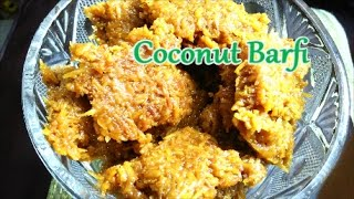 Coconut Burfi Recipe | Mithai | Indian Sweets