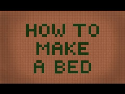 Minecraft: How to make a bed
