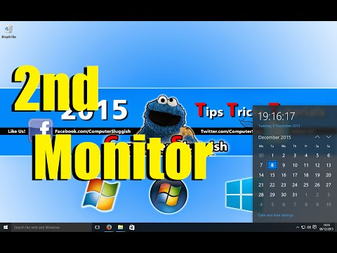 Windows10 How To Put Taskbar Clock On Second Monitor