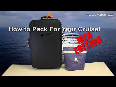 How To Pack For Your Cruise! - Men Edition | www.CRUISE.co.uk