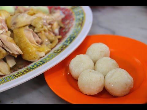 Hainan Chicken Rice Balls in Melakka