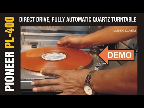 PIONEER PL 400 Quartz PLL Direct Drive Turntable Demo