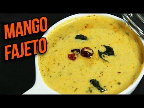 Mango Fajeto Recipe - Mango Kadhi - Mango Curry - Summer Special Mango Recipe - Ruchi Bharani