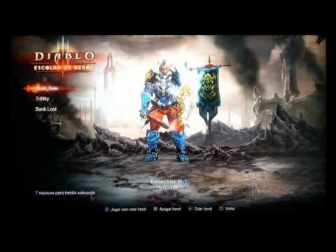 DIABLO 3 (PS3)  FAZENDO HACK DE  ITENS E QUANTIDADE - VIDEO 01