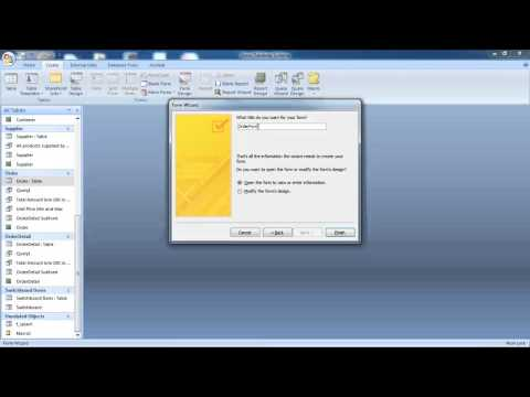 How to Create Form and Subform in Microsoft Access