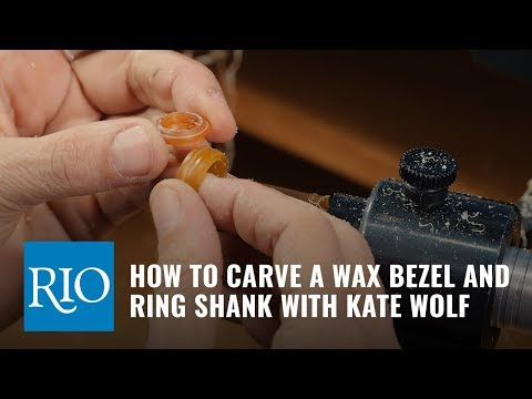 Flex Shaft Wax Carving, part 3: Turning a Bezel and Shank