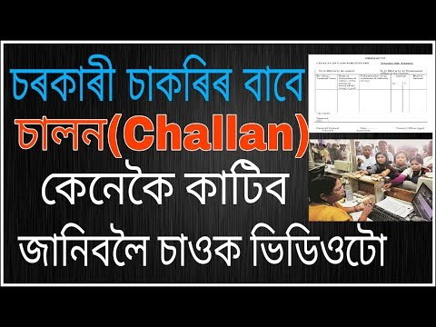 How To Fill a Treasury Challan Form | In Assamese