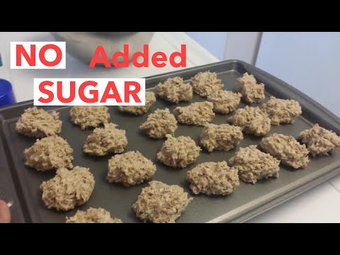 HEALTHY BANANA & PEANUT BUTTER OATMEAL COOKIES