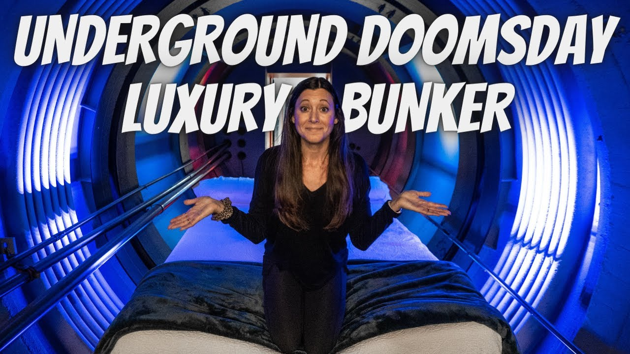 SLEEPING IN A LUXURY DOOMSDAY BUNKER (full tour)
