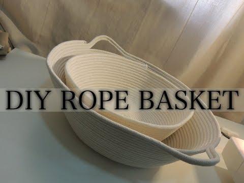 DIY ROPE BASKET/ SEW EASY BASKET