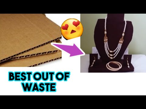 DIY✔How to make Necklace Display stand with cardboard  Easy way  best out of waste | By Master arts