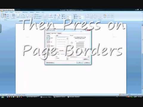 Microsoft Word 2007 tutorial (How to get a border)