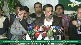 MQM MNA Salman Mujahid Baloch joins Pak Sarzameen Party addressing Media with Syed Mustafa Kamal