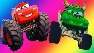 Мультики машинки монстр трак. ТАЧКИ: Жракула и Молния Маккуин. Monstr Truck For Kids.Видео для детей