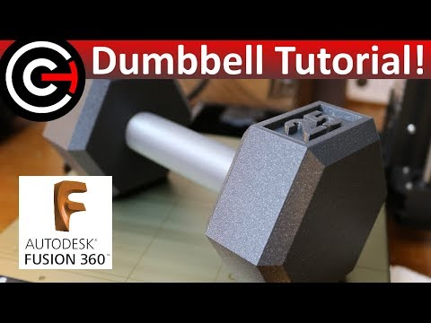 How to Create a Dumbbell in Fusion 360 - Beginner Tutorial