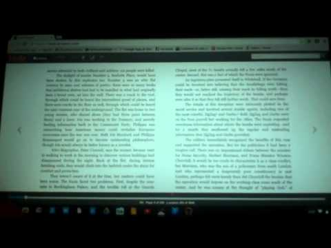 Reading Amazon and Google Books Offline with a Chromebook