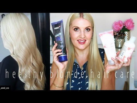 Hair Care Routine for Long, Healthy, Shiny, Blonde Hair