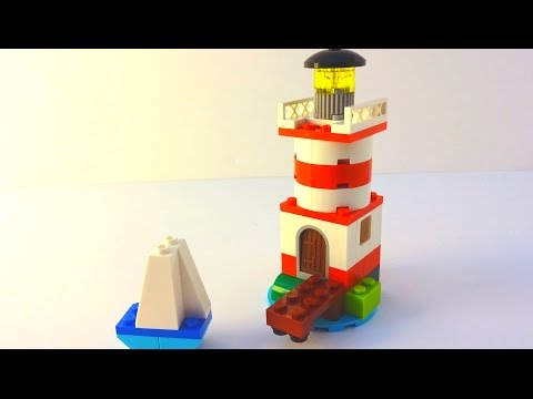 How to Build a Lego Lighthouse & Sail - Lego Classic 10692 (2015)