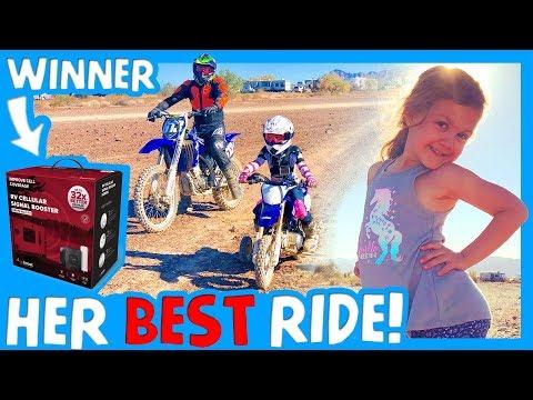 🏁 KIDS BEST DIRT BIKE RIDE BOONDOCKING AT QUARTZSITE AZ 🏜 WeBoost Giveaway Winner 📱