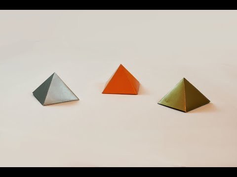 How to make a paper Pyramid?