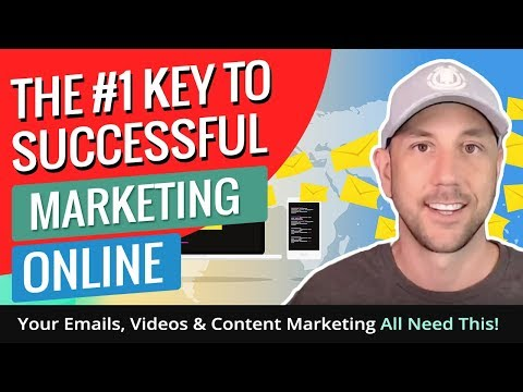 The #1 Key To Successful Marketing Online - Your Emails, Videos & Content Marketing All Need This!