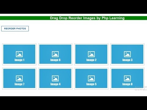 Drag and Drop Reorder images using jquery,Ajax php with mysql || jquery disable button