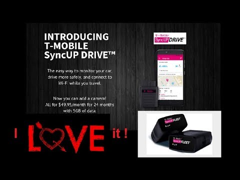T-Mobile SyncUp Drive. Connected Car and Mobile Hotspot for Fleets, Uber and Lyft