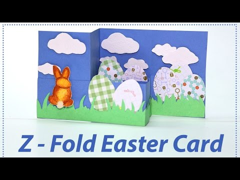 DIY Easter Card - Z Fold Greeting Card for Happy Easter