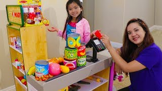 Emma Pretend Play Shopping with Giant Grocery Store Super Market Toy