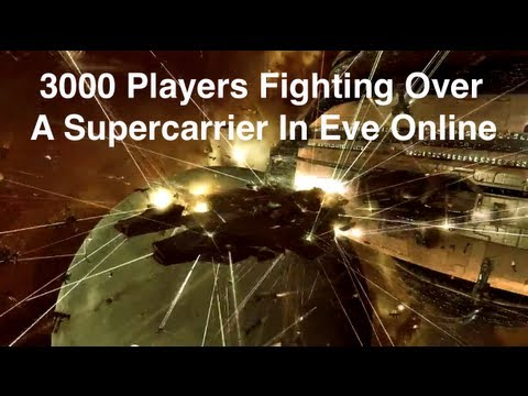 Eve Online - Flight Of A Thousand Rifters III - 3000 Players In Huge Fight