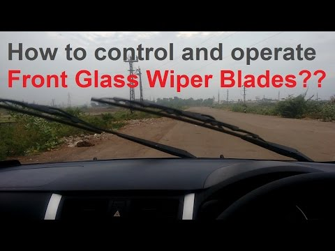 How to control and operate Front Glass Wiper in Car?