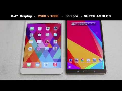 iPad Mini 2 Retina vs Samsung Galaxy Tab S 8.4