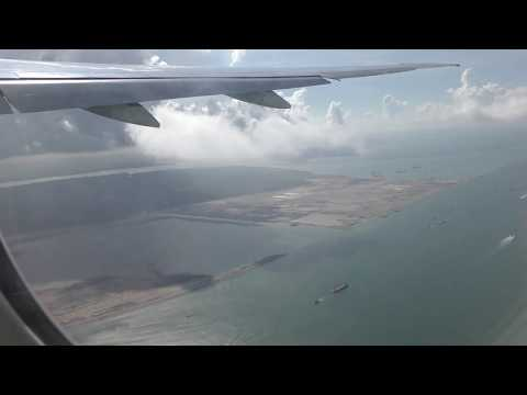 Emirates Flight EK433 taking off from Singapore's ,Changi international Airport
