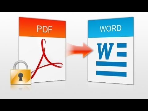 How to convert a pdf file into Microsoft Word document?