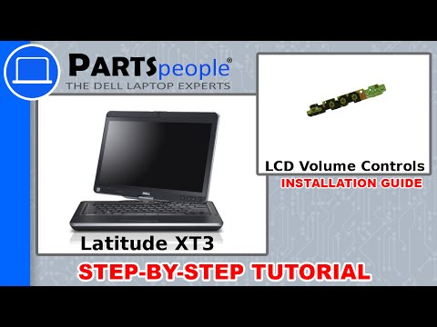 Dell Latitude XT3 LCD Volume Conrtol Buttons How-To Video Tutorial