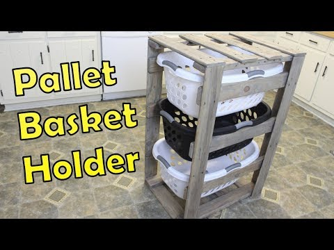 Laundry Basket Organizer - Pallet Projects